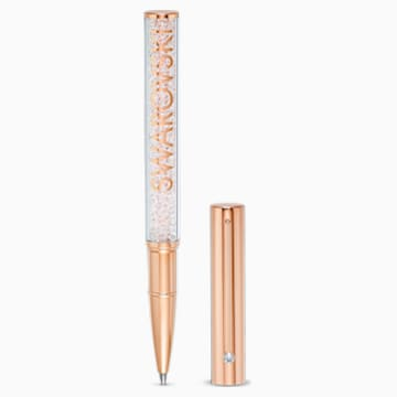 Penna a sfera Crystalline Gloss, placcato color oro rosa - Swarovski, 5568753