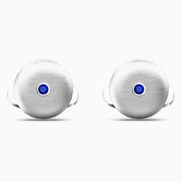 Theo-manchetknopen met element water, Blauw, Rodium-verguld - Swarovski, 5569063
