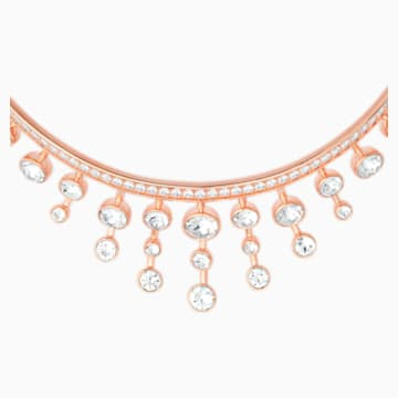Theater Choker, White, Rose-gold tone plated - Swarovski, 5569081