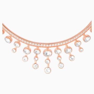 Theater Halsband, weiss, Rosé vergoldet - Swarovski, 5569081