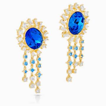 Orecchini Penélope Cruz Icons of Film, blu, placcato color oro - Swarovski, 5569083