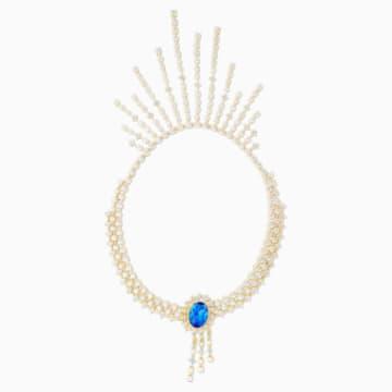 Penélope Cruz Icons of Film Halskette, blau, vergoldet - Swarovski, 5569101