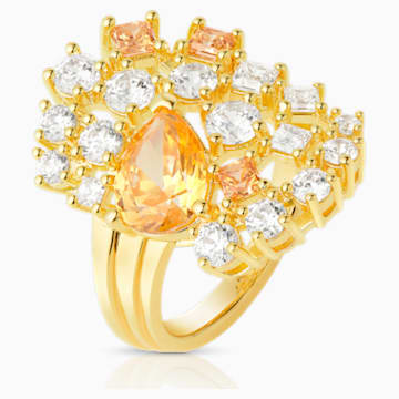 Penélope Cruz Icons of Film Cocktail Ring, Yellow, Gold-tone plated - Swarovski, 5569121