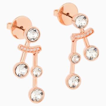 Boucles d'oreilles Theater , blanc, métal doré rose - Swarovski, 5569137
