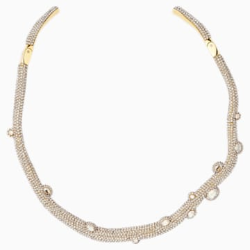 Tigris Torque Necklace, Gold tone, Gold-tone plated - Swarovski, 5569140