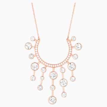 Theater Pendant, White, Rose-gold tone plated - Swarovski, 5569148