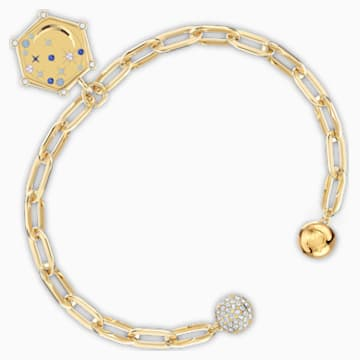 The Elements Moon Bracelet, Blue, Gold-tone plated - Swarovski, 5569182