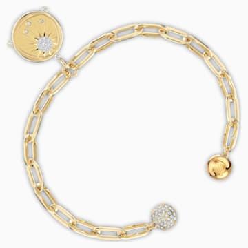 The Elements Sun 手链, 白色, 镀金色调 - Swarovski, 5569190