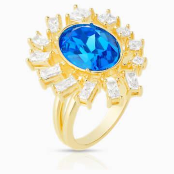 Penélope Cruz Icons of Film Ring, Blue, Gold-tone plated - Swarovski, 5569522
