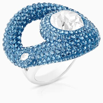 Tigris Ring, Aqua, Palladium plated - Swarovski, 5569573
