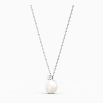 Zestaw Treasure Pearl, biały, powlekany rodem - Swarovski, 5569758