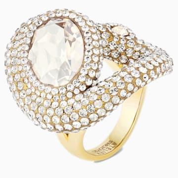 Bague Tigris, blanc, métal doré - Swarovski, 5569889