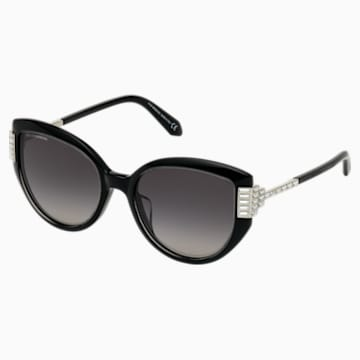 Fluid Cat Eye 太阳眼镜, 黑色 - Swarovski, 5569895