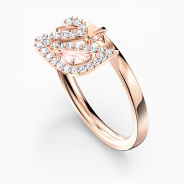 Dazzling Swan Ring, rosa, Rosé vergoldet - Swarovski, 5569924