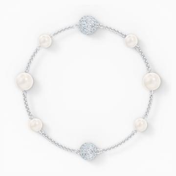 Αλυσίδα strand Pearl από τη Συλλογή Swarovski Remix, λευκή, επιροδιωμένη - Swarovski, 5570816