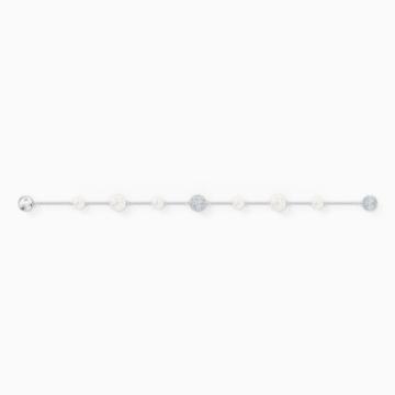 Swarovski Remix kollekció gyöngylánc, fehér, ródium bevonattal - Swarovski, 5570816