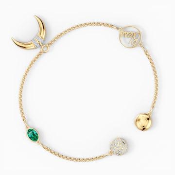 Strand Swarovski Remix Collection Horn, vert, métal doré - Swarovski, 5570838