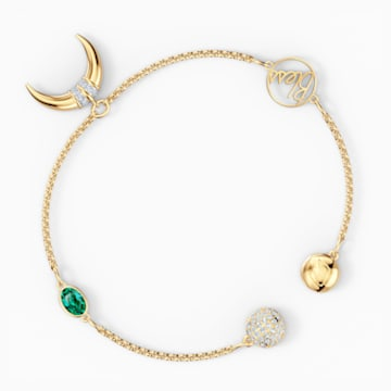 Swarovski Remix Collection Horn Strand, Yeşil, Altın rengi kaplama - Swarovski, 5570838
