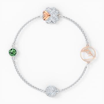 Αλυσίδα strand από τη Συλλογή Swarovski Remix, πράσινη, μικτό μεταλλικό φινίρισμα - Swarovski, 5570839