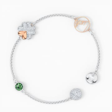 Swarovski Remix Collection Clover Strand, grün, Metallmix - Swarovski, 5570840
