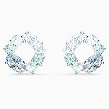 Attract Circle Ohrstecker, rhodiniert - Swarovski, 5570943