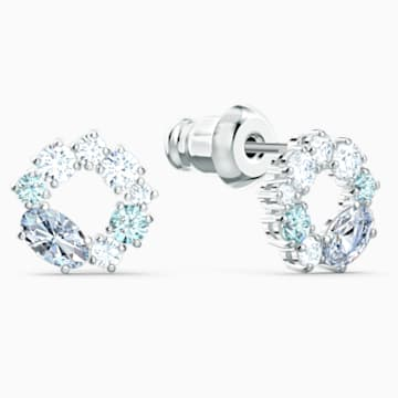 Attract kör alakú bedugós fülbevaló, színes, ródium bevonattal - Swarovski, 5570943