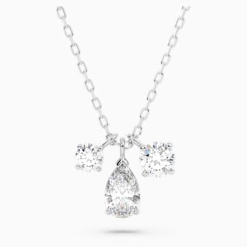Attract Pandantiv Cluster, alb, placat cu rodiu - Swarovski, 5571077