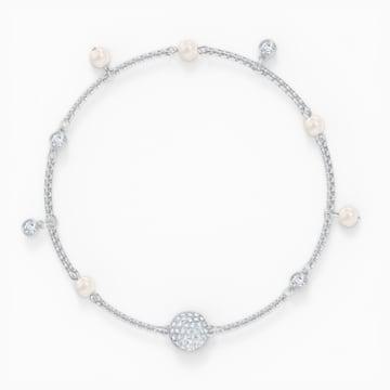 Αλυσίδα strand Delicate Pearl από τη Συλλογή Swarovski Remix, λευκή, επιροδιωμένη - Swarovski, 5572078