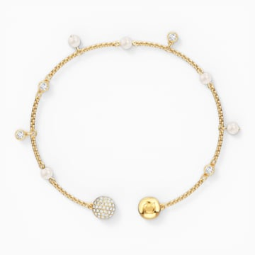 Swarovski Remix Collection Delicate Pearl Strand, Beyaz, Altın rengi kaplama - Swarovski, 5572079