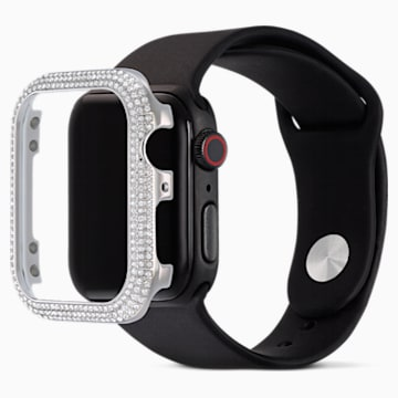 Funda compatible con Apple Watch ® 44mm Sparkling, tono plateado - Swarovski, 5572426