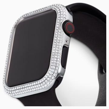 Coque compatible avec Apple Watch ® 44mm Sparkling, ton argenté - Swarovski, 5572426