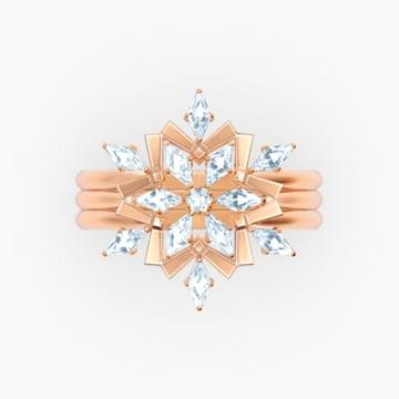 Set Anelli Magic, bianco, placcato color oro rosa - Swarovski, 5572492