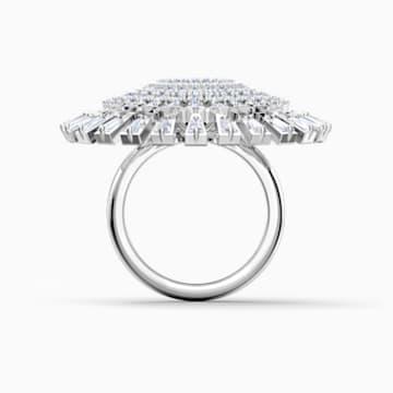 Swarovski Sparkling Dance-dial up-ring, Wit, Rodium-verguld - Swarovski, 5572515