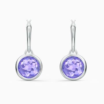 Tahlia Mini 穿孔耳环, 紫色, 镀铑 - Swarovski, 5572586