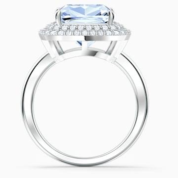 Angelic Ring, Blue, Rhodium plated - Swarovski, 5572634