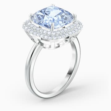 Angelic 戒指, 藍色, 鍍白金色 - Swarovski, 5572636