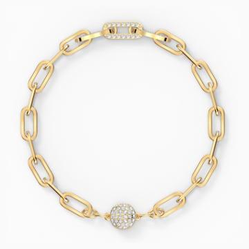 The Elements lánc karkötő, fehér, arany árnyalatú bevonattal - Swarovski, 5572652