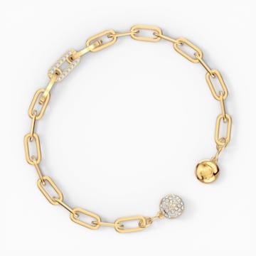 The Elements Chain Bracelet, White, Gold-tone plated - Swarovski, 5572652