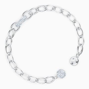 The Elements Chain Armband, weiss, rhodiniert - Swarovski, 5572655