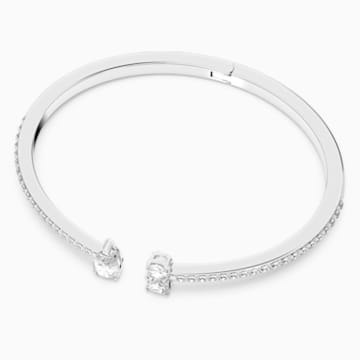 Attract-brede armband, Wit, Rodium-verguld - Swarovski, 5572664