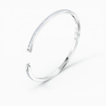 Rare Bangle, White, Rhodium plated - Swarovski, 5572678