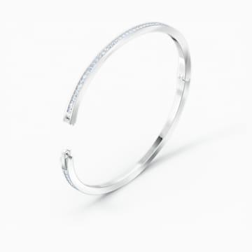 Bracelet-jonc Rare, blanc, métal rhodié - Swarovski, 5572679