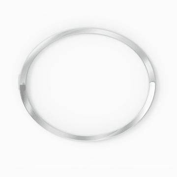 Rare Armreif, weiss, rhodiniert - Swarovski, 5572679