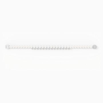 Treasure Pearl Bracelet, White, Rhodium plated - Swarovski, 5572683