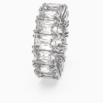 Vittore Wide Ring, White, Rhodium plated - Swarovski, 5572695