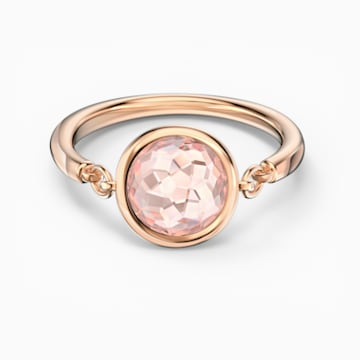 Tahlia Ring, Pink, Rose-gold tone plated - Swarovski, 5572696