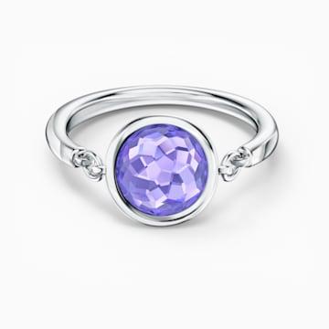 Tahlia gyűrű, lila, ródium bevonattal - Swarovski, 5572701