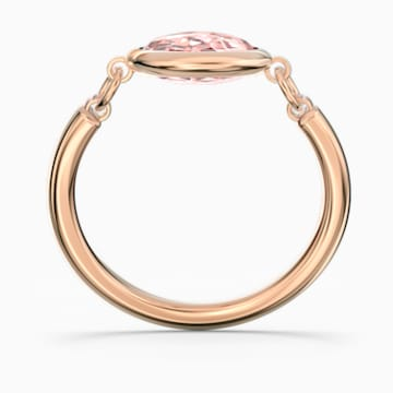 Tahlia Ring, Pink, Rose-gold tone plated - Swarovski, 5572705