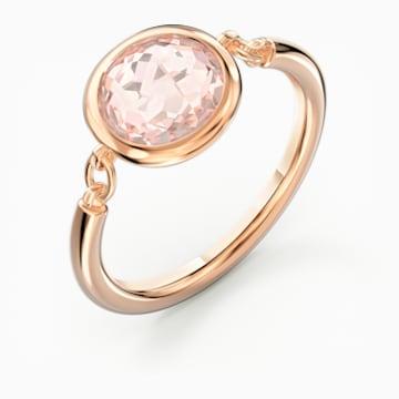 Anillo Tahlia, rosa, baño tono oro rosa - Swarovski, 5572707