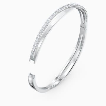 Bracelet Twist Rows, blanc, métal rhodié - Swarovski, 5572726